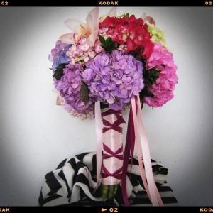 bouquet en hydrangeas
