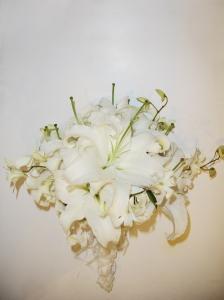 bouquet en lirios casablanca